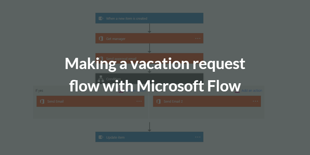 Making a vacation request flow with Microsoft Flow (preview)