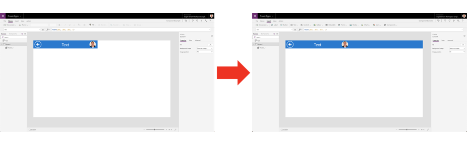 Responsive components in PowerApps