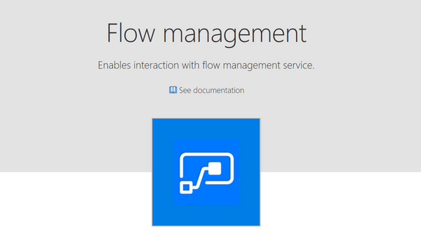 The Microsoft Flow management connector